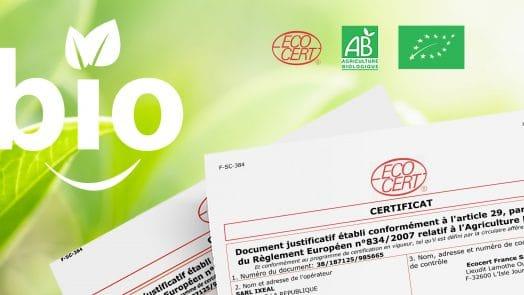 Certification bio ecocert Nutrixeal