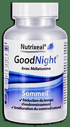 Goodnight Nutrixeal, avec l-theanine, tryptophane, passiflore, melatonine.