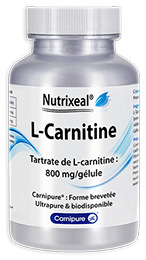 L-carnitine Carnipure Nutrixeal hautement dosée.