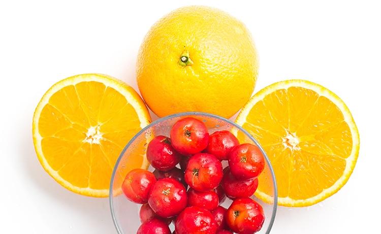 acerola et orange sources vitamine C