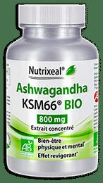 Ashwagandha BIO Nutrixeal, KSM-66, standardisé en withanolides.
