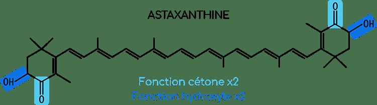 Structure moléculaire de l'astaxanthine.