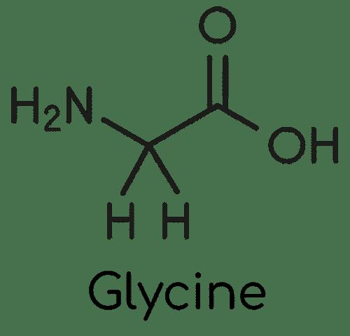 Glycine : structure moleculaire.
