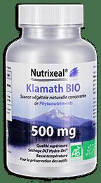 Klamath BIO gélules Nutrixeal, source de phytonutriments, garantie sans microcystines.
