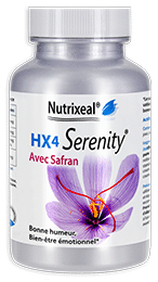 HX4 serenity de Nutrixeal avec l-theanine, gaba et safran.