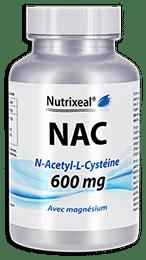 La NAC, N-acétyle-cystéine de Nutrixeal est hautement dosée : 600 mg par gélule.