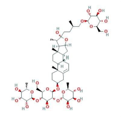 protodioscine structure moléculaire