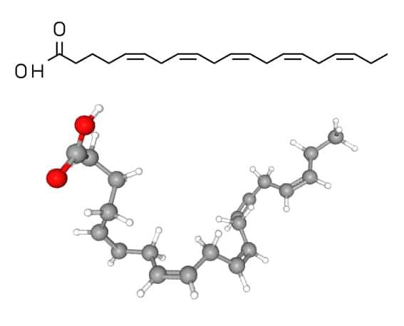 Structure moléculaire de l'EPA (acide éicosapentaénoïque)