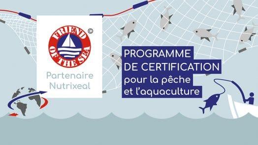 Friend of the sea, partenaire Nutrixeal, certification pour la pêche et l'aquaculture.