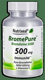 BromePure Nutrixeal : Bromelaïne 5000 GDU/g, 500 mg par gélule.