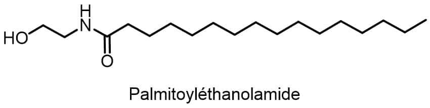 PEA Palmitoyléthanolamide structure moleculaire