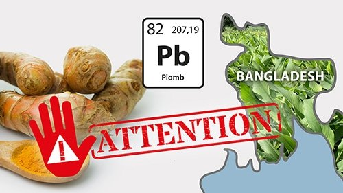 Attention curcuma curcumine Bangladesh contenant du chromate de plomb