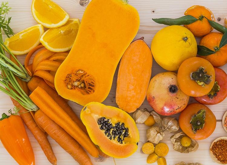fruits et légumes sources de carotènes