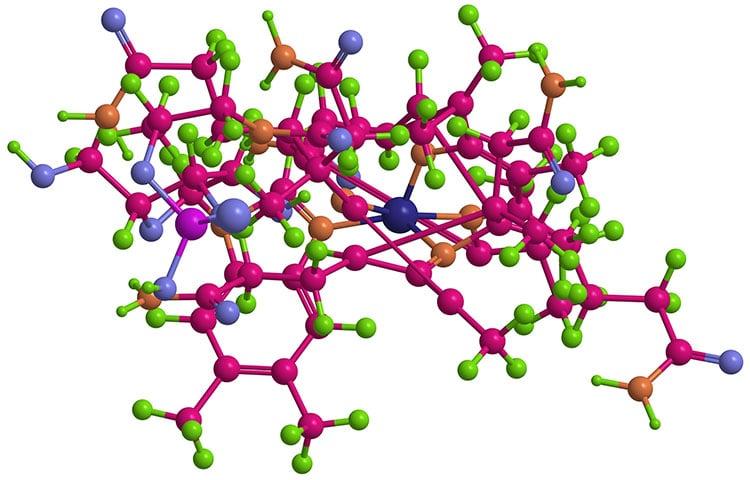 Structure chimique de la methylcobalamine (vitamine B12)
