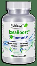 Ixeaboost Immunité : vitamine C, quercétine, zinc, vitamine D3