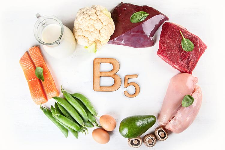 Aliments sources vitamine B5 acide pantothenique Nutrixeal Info