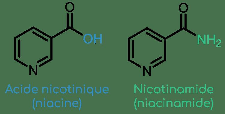 structure vitamine B3 niacine et nicotinamide Nutrixeal Info